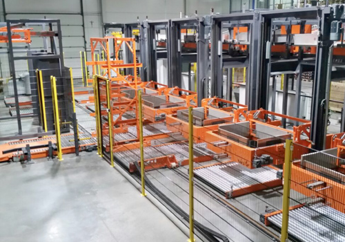 Complete palletizing line